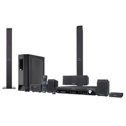SC-PT950 DVD Home Theater Systems Home Theater System with 5-DVD Changer, 2 Tower Speakers, Wireless Rear Speaker, High-Quality Picture & Sound, 1080p Up-Conversion, EZ Sync™ HDAVI Control with HDMI Connection, Included Panasonic Universal Dock for iPod®