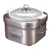 DELONGHI DCP707 STEEL SLOW COOKER 5QUART PROGRAMMABLE