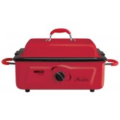 NESCO 4805 12 RED ROASTER OVEN 5QT PORCELAIN