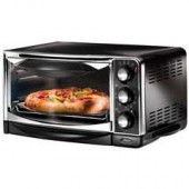 OSTER 6290 BLACK TOASTER OVEN 6SLICE PIZZA FIT 60MIN TIMER