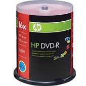 HP 66000084112 16x DVD-R - 100-Pack Spindle, 4.7GB capacity / Ideal for storing & backing up music, photos, & high-quality videos / Compatible w/ almost all DVD-Rom drives & DVD video players