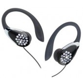 iLuv i84 Crystal Stereo Ear Clips with Adjustable Slider & Volume Control, Listen to Music Stored on Your Phone - Black