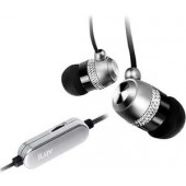 ILUV I353SIL Silver Aluminum In-Ear Earphones, In- Line Volume Control