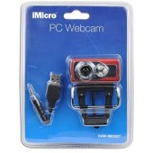 iMicro IMC027 5MP (Interpolated) USB 2.0 Webcam w/Built-in Microphone, 3 LEDs & LCD Clip-On - Video Chat in Low Light!