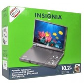 "10.2"" Insignia NS-10PDVDD Widescreen Portable DVD Player (Charcoal) Refurbished"