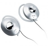Ultra Lightweight Ear-Clips for Digital Devices with In-Line Volume Control (Silver)