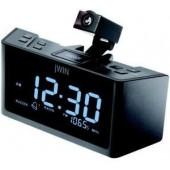 Jwin Jl365blk Jumbo LCD Dual Alarm Projection Clock Am/Fm Radio 9 Min Snooze 9V Battery Backup