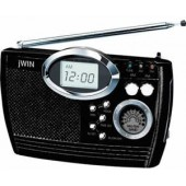 jWIN Electronics JXM17 Multi Band Portable Radio With Alarm Clock