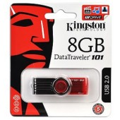 Kingston DataTraveler 101 - RED 8 GB USB 2.0 Flash Drive DT101N/8GB