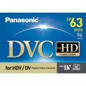 AY-DVM63HD  63 Minute Professional MiniDV Tape for 1080i or 720p High Definition Recording