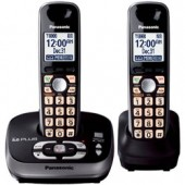 KX-TG4032B  Expandable Digital Cordless Phone with Answering System with 2 handset.