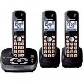 KX-TG4033B  Expandable Digital Cordless Phone with Answering System with 3 handset.