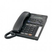 KX-TS3282B  2-Line Integrated Phone System with Intercom, Hearing Aid Compatible (HAC), Call Waiting Caller ID and Speakerphone, Black