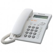 KX-TSC11W Corded Phones 1 Line, Caller ID Integrated Telephone System, White