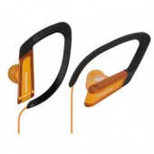 RP-HS200D Clip-On Headphones - In-the-ear type Clip Earphones, ideal for sports - Soft, comfort fit Elastomer Hanger - Sweat & water resistant design - Orange Color