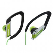 RP-HS200G Clip-On Headphones - In-the-ear type Clip Earphones, ideal for sports - Soft, comfort fit Elastomer Hanger - Sweat & water resistant design - Green Color